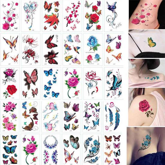 tatuajes temporales tipo calcomanía
